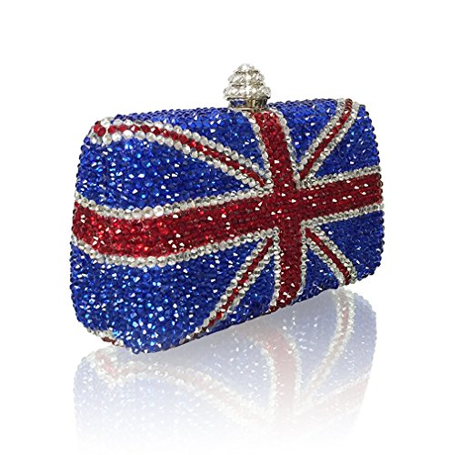 Marc Defang York Women's British Union Jack Crystal Couture Clutch