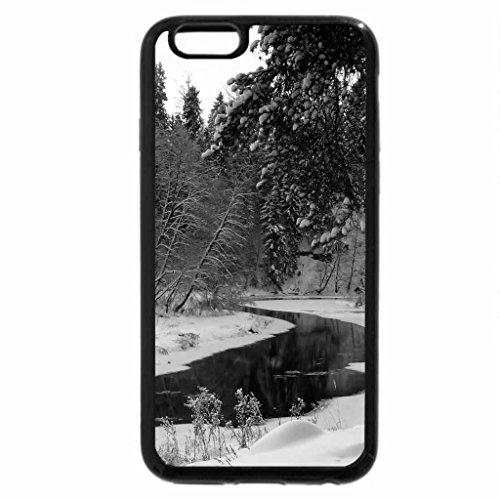 iPhone 6S Plus Case, iPhone 6 Plus Case (Black & White) - Winter Beauty