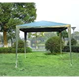 Outsunny 2.7m x 2.7m Garden Heavy Duty Gazebo Marquee Party Tent Wedding Canopy Outdoor(Green)