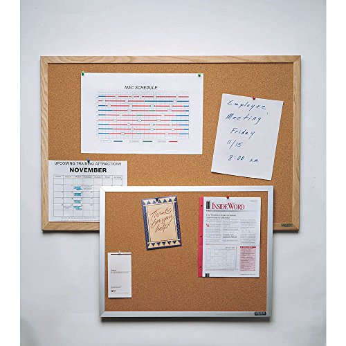 Wall Mounted Bulletin Board Size: 1' 6