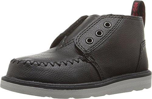 TOMS Kids Baby Boy's Chukka Boot (Infant/Toddler/Little Kid) Black Synthetic Leather Boot 3 Infant M