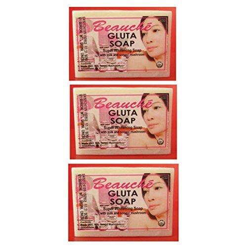 3 (Pack) Beauche Gluta Whitening Beauty Bar Soap 90g