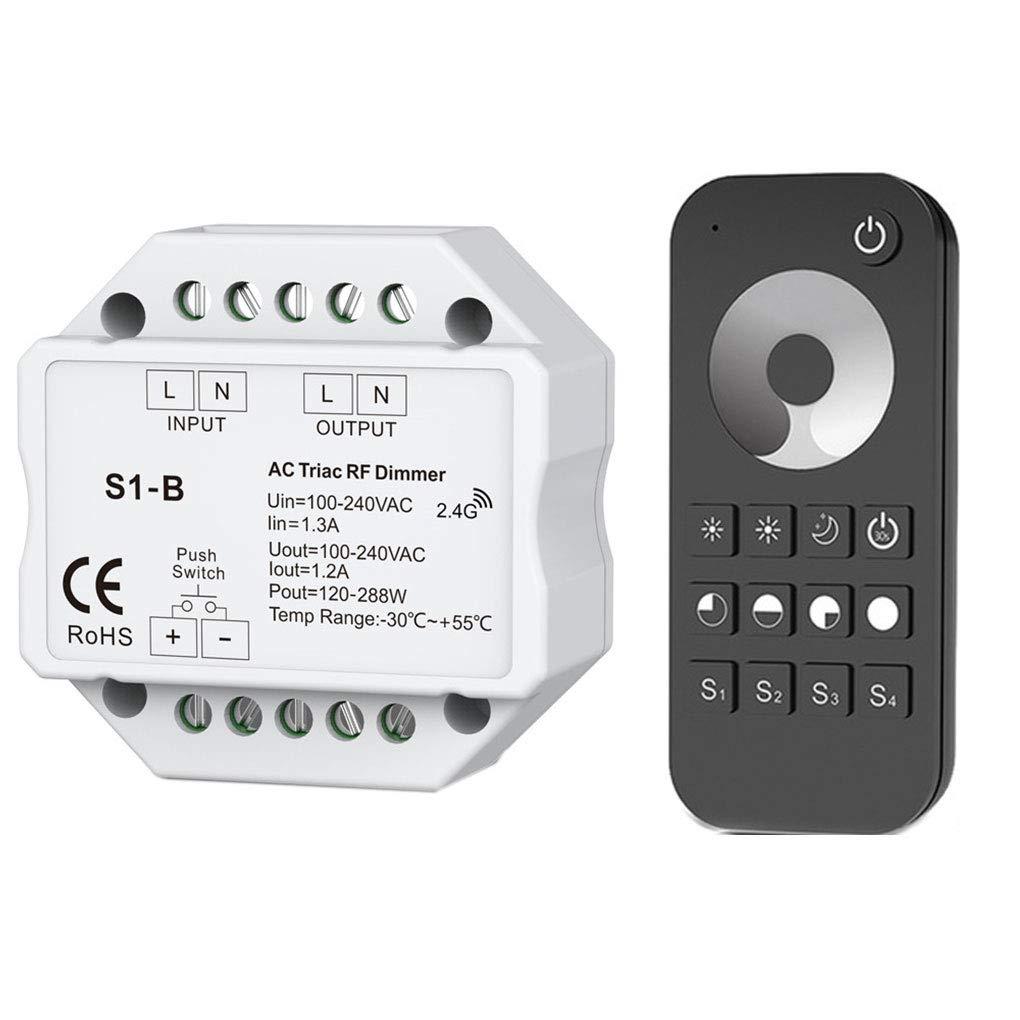 Ben-gi Triac LED Dimmer 100-240 RF inal/ámbrico de Empuje Regulable Interruptor 2.4G Control Remoto de un Solo Color LED del Bulbo del atenuador de Luces