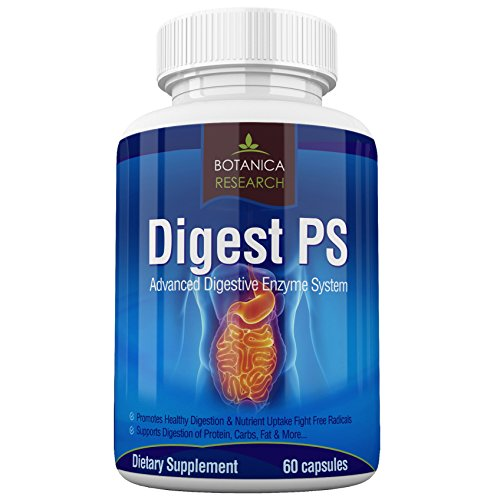 Digest PS: Advanced Digestive Multi Enzymes Support Supplement - Daily Essential Digestion System Cleanse: Bromelain, Lipase, Amylase, Lactase, Protease, Pectinase, Peptidase Vegetarian Capsule Pills