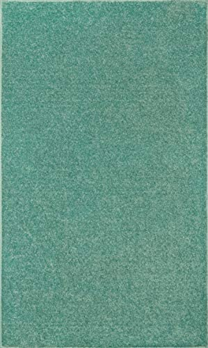 Ambiant Broadway Collection Pet Friendly Area Rug Teal – 2 x3