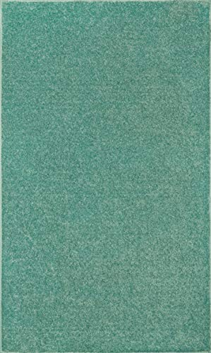 Bright House Solid Color Area Rugs Teal – 5 x8