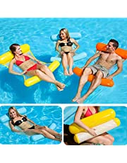Bestmaple Water Hammock Recliner Inflatable Floating Swimming Mattress Sea Swimming Ring Pool Party Toy Lounge Bed for Swimming