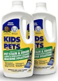 KIDS 'N' PETS - Pet Stain & Odor - Carpet & Upholstery Cleaner Machine Solution – 27.05 oz - Pack of 2 | Professional Strength Formula Deeply Cleans Carpet & Upholstery | Non-Toxic & Child Safe
