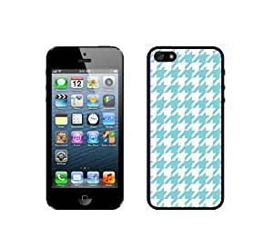 Houndstooth Pattern - Aqua - Protective Designer BLACK Case - Fits HTC One X / One X+