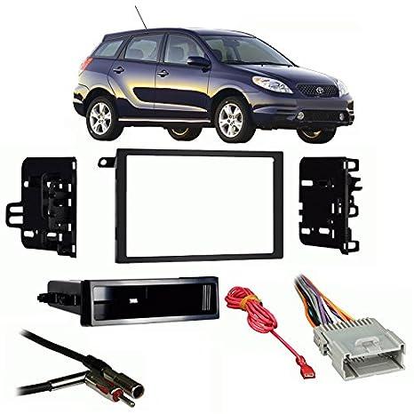 amazon com: fits toyota matrix 2003-2004 double din stereo harness radio  install dash kit: car electronics