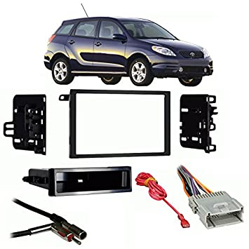 51DkTKjmhKL._SY355_ amazon com fits toyota matrix 2003 2004 double din stereo harness Metra Wiring Harness Diagram at gsmportal.co