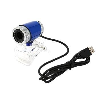 Formulaone Azul + Plata Ajuste de 360 Grados USB 2.0 5MP HD Sensor de Imagen CMOS Webcam Cámara Web para PC Ordenador portátil Ordenador portátil: ...