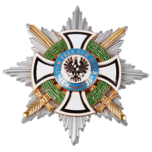 Heerpoint Reproduction WWI German Hausorden Von Hohenzollern Star Iron Cross Military Medal Badge
