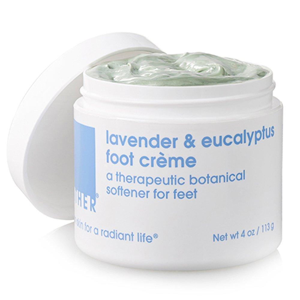 LATHER Lavender & Eucalyptus Foot Crème, 4 Ounce Jar