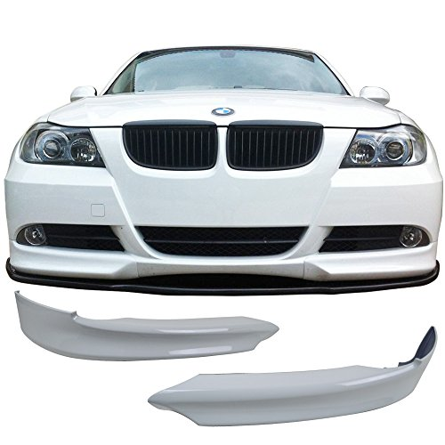 2008 Bmw 300 Series - Pre-painted Front Bumper Lip Fits 2005-2008 BMW E90 3-Series | OEM Factory Style Alpine White III #300 PP Lip Finisher Under Chin Spoiler Add On other color available by IKON MOTORSPORTS | 2006 2007