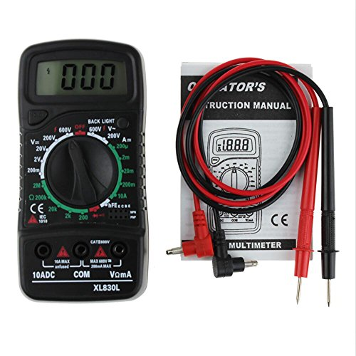 Digital LCD Multimeter XL-830L Voltmeter Ammeter AC/DC/OHM Volt Current Tester