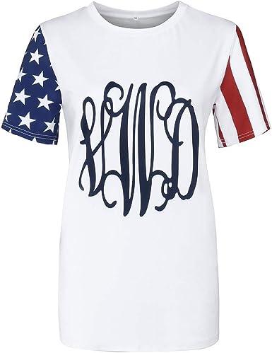 DORIC 2019 New Girls Womens Tops Blouse Ladies Summer Short Sleeve Printing Casual T-Shirt Loose