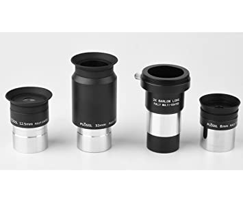 """Long eye relief 1.25/"""" 25mm telescope eyepiece Non standard filter thread Case"""