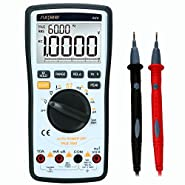 Digital Multimeter, SURPEER 20000 Counts Multi Capacitor Tester True RMS Auto Range Voltmeter - DC AC Voltage Current Ohm Resistance Diode Temperature Continuity Frequency Electric Field Testing