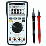 SURPEER Multimeter, Digital multimeter True RMS 4 1/2 Auto/Manual Range Voltmeter - Multi Tester DC AC Voltage Current Ohm Resistance Diode Temperature Continuity Frequency Electric Field Testing