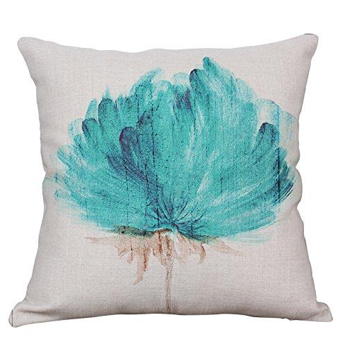 Linen Outdoor Chair - Lotus Plant Decorative Throw Pillow Covers Square Cotton Linen Cushion Covers Outdoor Sofa Home Couch Pillow Covers 18x18 Inch