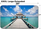 MSD Large Table Mat Non-Slip Natural Rubber Desk Pads Spa Room at The end of The pier Relax Concept Image 34180841 Customized Tablemats Stain
