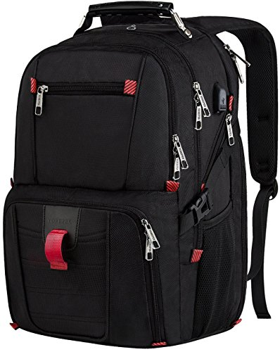 Travel Laptop Backpack, Big TSA Durable College School Computer Bag w/ USB Charging Port/Headphone Hole for Men Women,Water Resistant Large Capacity Backpacks Fit Most 17-Inch Laptops & Notebook,Black - Executive Backpack