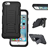 iPhone 6 6s Pus + Case By GTRADE Belt Clip Robot Holster Kickstand - Perfect Cutouts & Easy Access To Buttons - Cover for Apple iPhone 6 6S Plus + 2014 2015 Edition - (Black)
