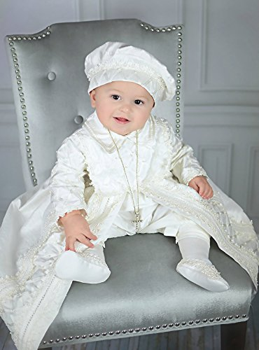 Baby Boy Christening Gown, Spanish Style outfit (ropones para bautizo). Baptism Outfit B001 by Burbvus