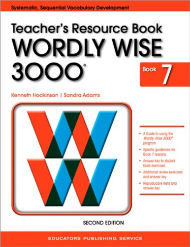Wordly Wise 3000 Book 7 Teacher's Resource Book