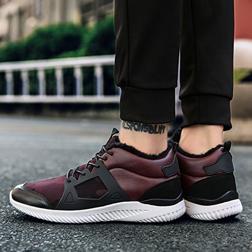 Men's Shoes Feifei Winter Keep Warm Fashion Wear-Resistant Sports Shoes 4 Colors (Color : 03, Size : EU40/UK7/CN41)