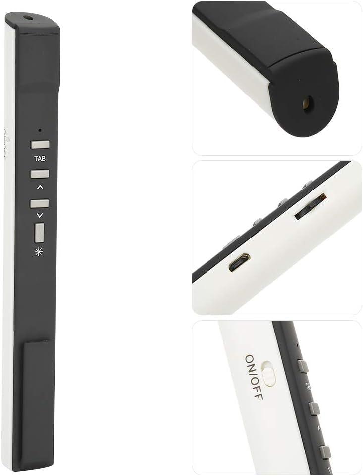 Pointeur Laser de Professeur de t/él/écommande ABS PPT White pr/ésentateur Laser sans Fil /à lumi/ère Rouge Rechargeable pour XP