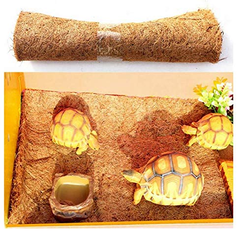 TUDIO Reptile Carpet, Brown Reptile Terrarium Liner Mat Substrate Bedding Fits All Sorts of Gecko, Bearded Dragons, Lizards, Iguanas, Anoles, Turtles, Snakes