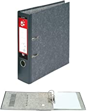 5 Star Office Lever Arch File 70mm A4 Cloudy Grey [Pack 10]