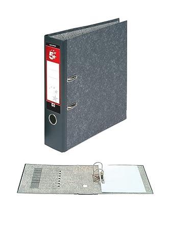 5 Star 297498 - Paquete de 10 archivadores con anillas A4, gris: Amazon.es: Oficina y papelería