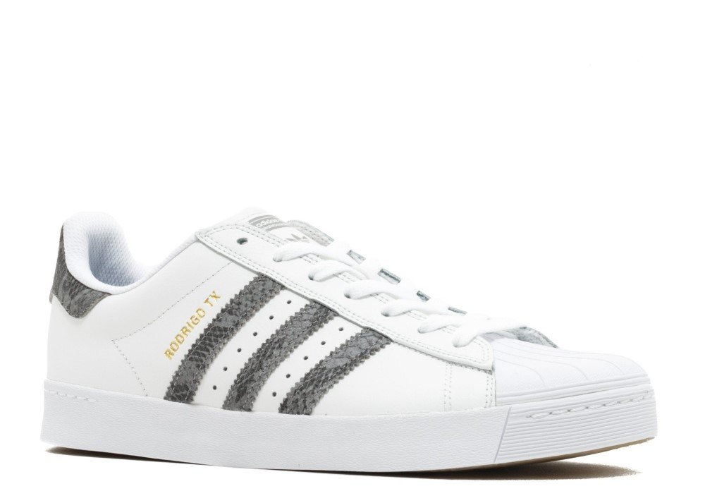 adidas Originals Men's Superstar Vulc Adv Shoes B06X9DGBK1 4 D(M) US|Crystal White/Solid Grey/Footwear White