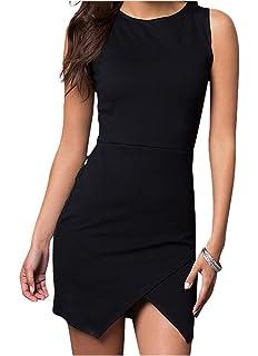 dd97e5ed8e Cheryl Creations Women's Short Sleeveless Envelope Slip Bottom Comfortable  & Stretch Day/Night Dress