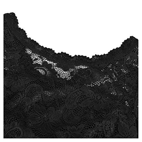 Dentelle Des Femmes De Mariée Annie Manches 3/4 Sirène Robes De Soirée Longueur De Plancher Noir