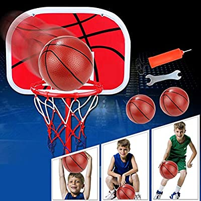 150cm Height Adjustable Basketball Hoop Stand Free Standing Portable Basketball Stand Mini Ball Set Kids Basketball Hoop Stand Set for Indoors Outdoors: Sports & Outdoors