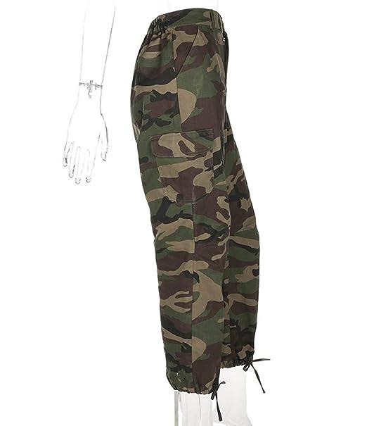 Guiran Femme Taille Haute Camouflage Fermeture éclair Combat Pantalons  Treillis Militaire Cargo Pantalon de Travail Multi Poches  Amazon.fr   Vêtements et ... fb5aec5eaef
