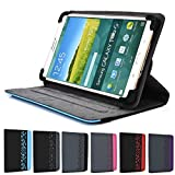 Davy's Grey Rotating Case Fits Alcatel Fire 7 Hero 8, Alcatel One Touch Evo 7 HD 8 HD Fire 7 Pixi 7 Idol Pop 7 Pop 8 T10 Tab 7 Tab 8 HD Tablet | Lazer Portrait or Landscape Orientation 360 Stand Cover