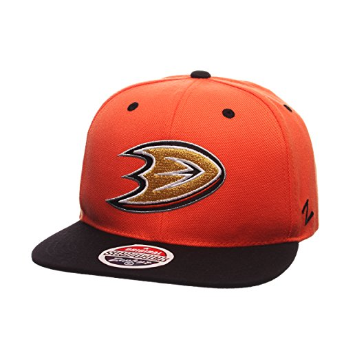 NHL Anaheim Ducks Men's Z11 Snapback Hat, One Size, Orange