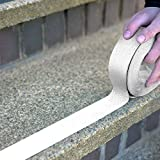 White or Clear Anti Slip Safety Grit Non Slip Tape - Highest Traction 60' Feet Many Sizes (White - 2'' width x 60' long)