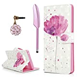 Note 8 Case, YOKIRIN 3D Painted Shiny Gillter Wallet Premium PU Leather Flip Case with Protective Shock-Absorption TPU Inner Cover Card Slots Hand Strap Magnetic for Samsung Galaxy Note 8, Lotus