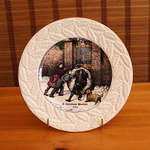 A Christmas Blockade 1990 by Coalport || vintage fine bone china plate || from an original painting by - Coalport Bone Plates China