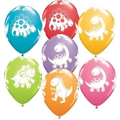 Dinosaur Party - Cute & Cuddly Dinosaurs Qualatex Latex Balloons x 25 by Dinosaur Party