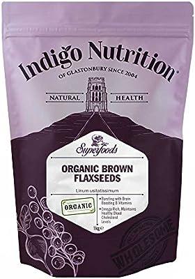 Indigo Herbs Semillas de Linaza / Lino Marrón Orgánicas 1kg ...