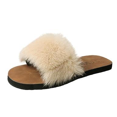 ddb3247942279c Amazon.com  DENER Women Girls Ladies Summer Flat Slippers