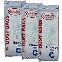 EnviroCare Replacement Vacuum Bags for Hoover Type C Convertible Uprights 12 Pack