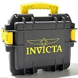New Invicta 3 Three Slot Grey Yellow Impact Dive Collector Watch Box Case